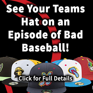 Advertisement to have your hat featured on Bad Baseball